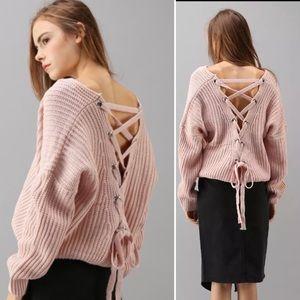 New! ❤️HOST PICK❤️Dusty pink chunky knit sweater